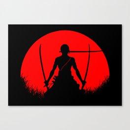 Red Moon Zoro Canvas Print