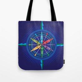 Kayak Compass Rose Tote Bag