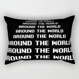 around the world black art print Rectangular Pillow