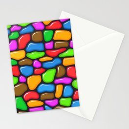 Colorful jelly beans pattern Stationery Cards