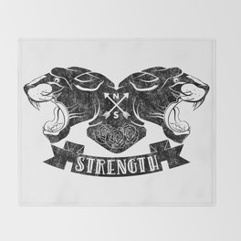 Panther Strength Throw Blanket