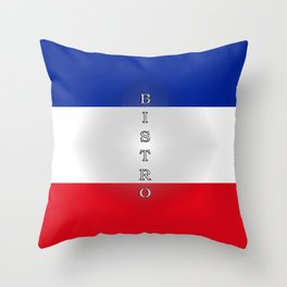 Tricolore Bistro Throw Pillow