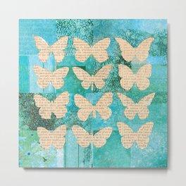 Tiffany Butterflies Metal Print