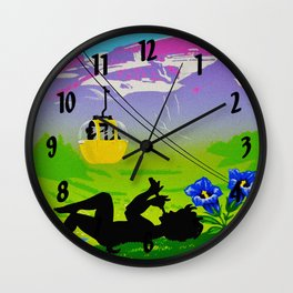 Diablerets Mountain Swiss Alps Travel Wall Clock