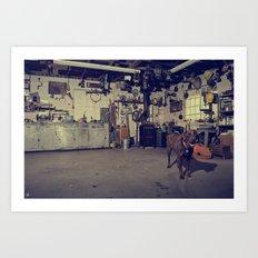 Naco's Garage Art Print