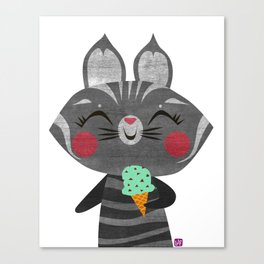 Ice Cream Cat Canvas Print