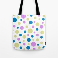 polka dot Tote Bags featuring Polka Dot by Little Ladybird