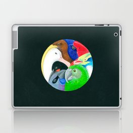 Squish Squashy Birds Circle Laptop & iPad Skin