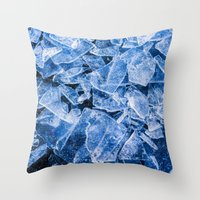 ice Throw Pillows featuring Ice by digital2real