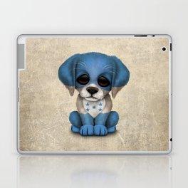Cute Puppy Dog with flag of Honduras Laptop & iPad Skin