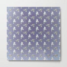 Snowy Owl flight pattern in Lavender Metal Print