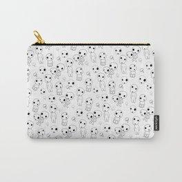 Kodama print white Carry-All Pouch