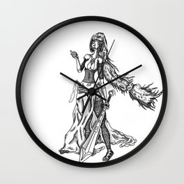 jasmina black and white Wall Clock