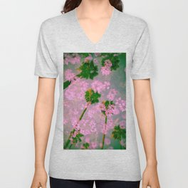 Palm Blossoms v3 Unisex V-Neck