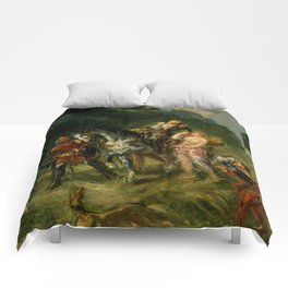 """Eugène Delacroix """"Angelica and the wounded Medoro"""" Comforters"""