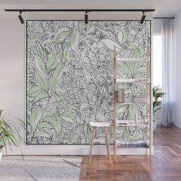 Begonias & Mums Wall Mural