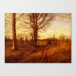 The Homestead Farm Track. Canvas Print