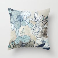 Vintage Botanical Throw Pillow