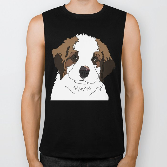 Sully the sweet Saint Bernese Biker Tank