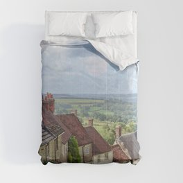 English Village - Sci-Fi collage Comforters