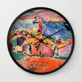 Henri Matisse The Roofs of Collioure Wall Clock