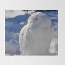 Snowy in the Snow by Teresa Thompson Throw Blanket
