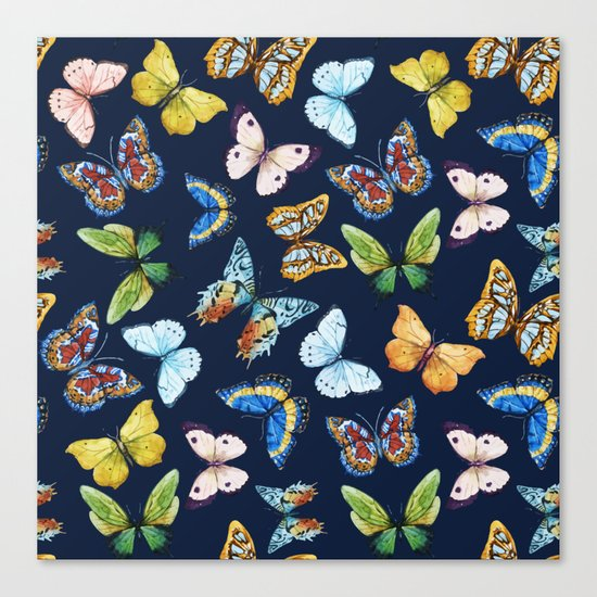 Butterfly Pattern 03 Canvas Print