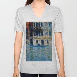 """Claude Monet """"Le Palais Dario"""" Unisex V-Neck"""