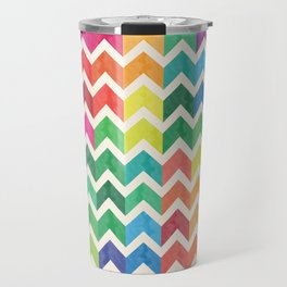 Watercolor Chevron Pattern IV Travel Mug