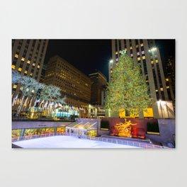 New York - Rockerfella Christmas Tree Canvas Print
