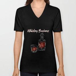 Whiskey Business Gentleman Bourbon Single Malt Unisex V-Neck