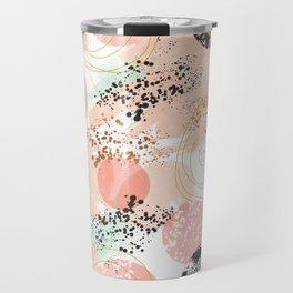 Pattern abstract shapes pastel and textures Travel Mug