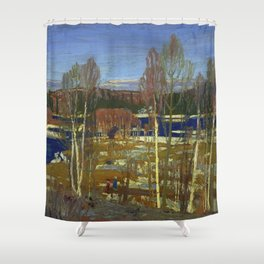 Tom Thomson Larry Dickson's Cabin 1917 Canadian Landscape Artist Shower Curtain