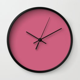 Cinnamon Satin - solid color Wall Clock