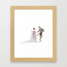 Jane Austen2 Framed Art Print