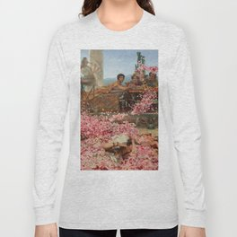 The Roses Of Heliogabalus By Sir Lawrence Alma Long Sleeve T-shirt