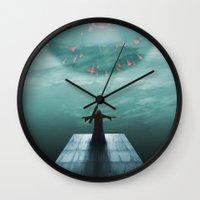 nordic Wall Clocks featuring Nordic magician by Tony Vazquez