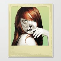 lindsay lohan Canvas Prints featuring Lindsay Lohan Is My Spirit Animal by Jason The Real McKoy