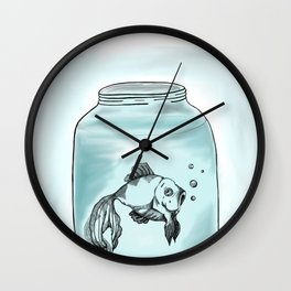 Le Fish Wall Clock