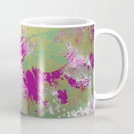 Metallic Pink Splatter Painting - Abstract pink, blue and gold metallic painting Coffee Mug