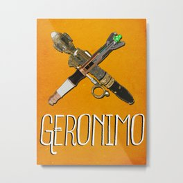 Doctor Who: Geronimo! 11th Doctor Metal Print