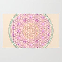 Sacred Geometry Pastels Rug