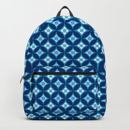 Shippo with Flower Motif, Indigo Blue and White Backpack