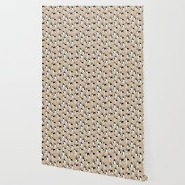 Treeing Walker Coonhounds on Tan Wallpaper