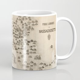 Vintage Library Map of Massachusetts (1904) Coffee Mug