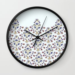 Radiating Flower Collage Wall Clock