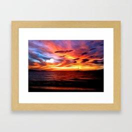 Honeymoon Sunset Framed Art Print