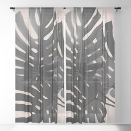 Tropical Monstera Finesse Glam #1 #tropical #decor #art #society6 Sheer Curtain