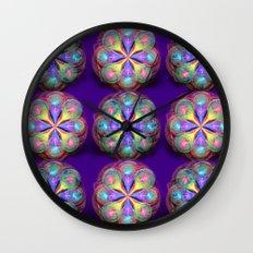 Fractal Buttons Wall Clock