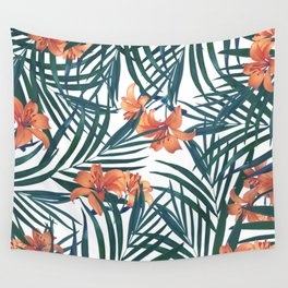 Tropical Lilies Wall Tapestry